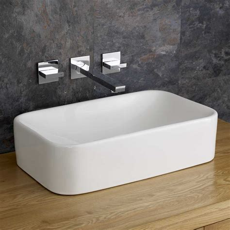 ceramic bathroom basins moda 48 6cm x 29 6cm rectangular sink countertop basin
