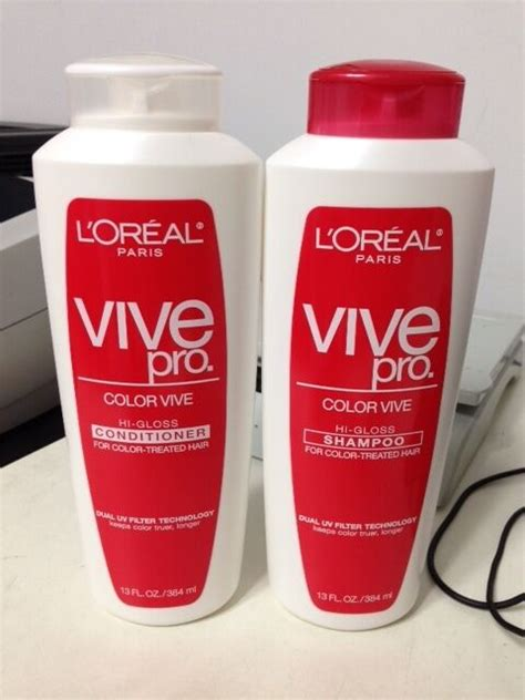shoo and conditioner for color treated hair l oreal color vive hi gloss conditioner and shoo for