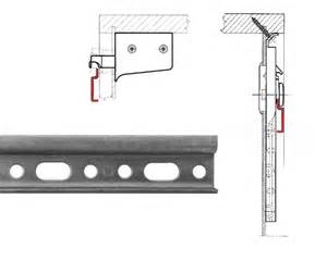 Kitchen Cabinet Rails Aufhaengeschiene Wall Cabinet 48 Mounting Rail Steel Zinc Plated Hooks Ebay