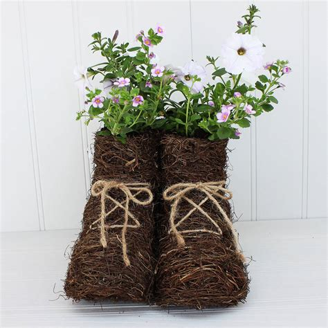 Walking Boots Planter By Marquis Dawe Boot Planter