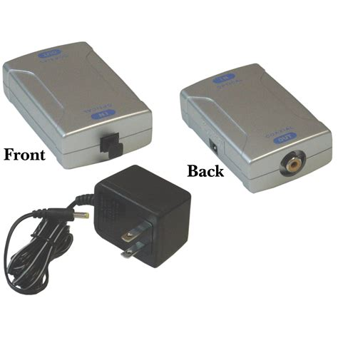 Toslink Paket With Fiber Cable Digital Optical Coax To Analog Rca L R optical toslink to digital coax converter