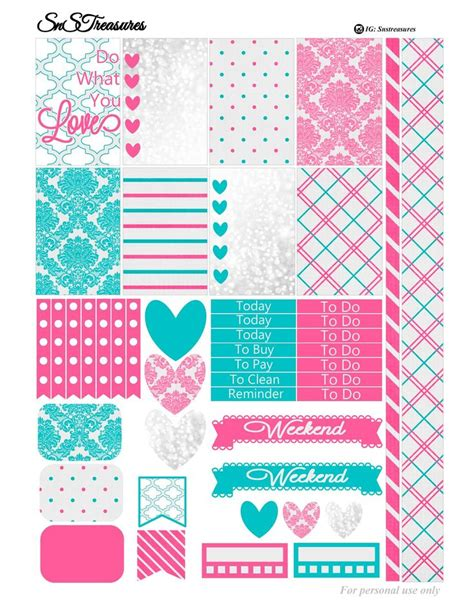 happy planner free printable stickers de 1824 b 228 sta printables bilderna p 229 pinterest