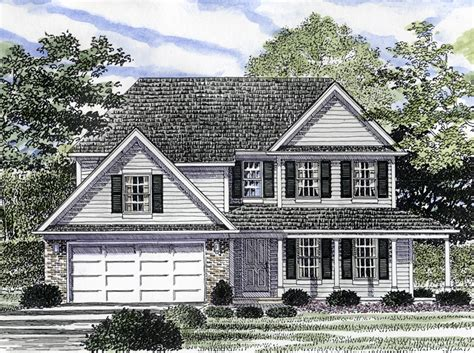 Second Floor Plans Home Garden Hill Colonial Style Home Plan 034d 0041 House