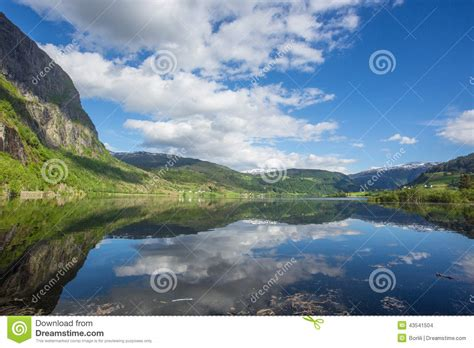 fjord water beautiful norway fjord water reflection stock photo