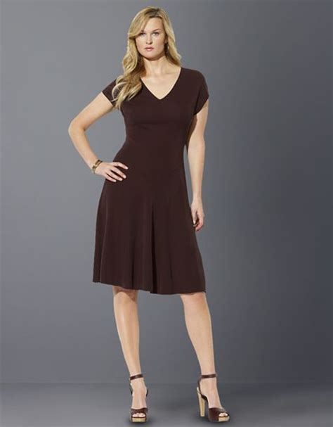 Dress Import Brown Bigsize by ralph plus size abella cap sleeved dress in brown chocolate lyst