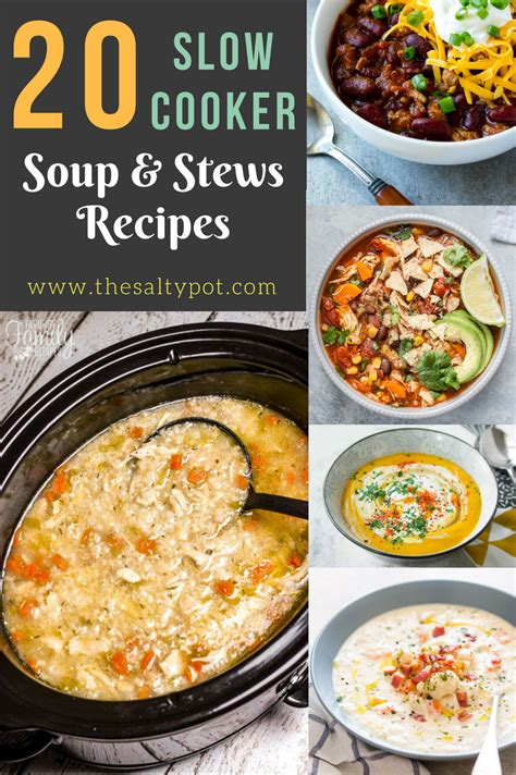 comfort soups and stews 20 slow cooker comfort soups stews and chowder recipes