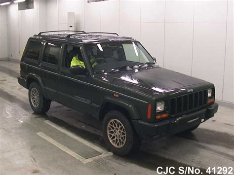 japanese jeep 1997 jeep cherokee green for sale stock no 41292