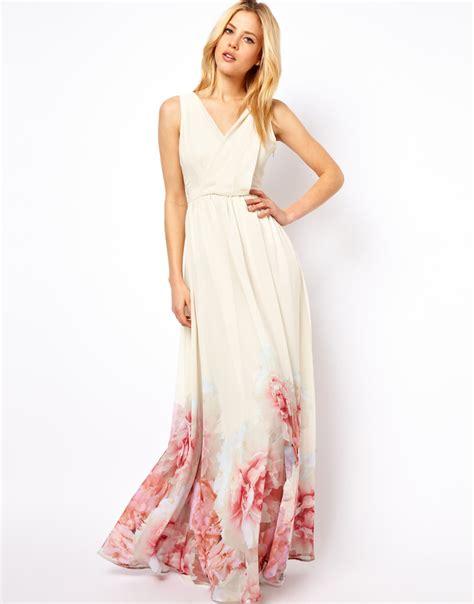 Dress Pink Floral mango floral hem maxi dress in pink lyst