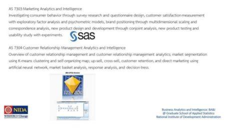 Mba Level Track In Business Analytics Tepper by Career Track Business Analytics And Intelligence Nida โดย