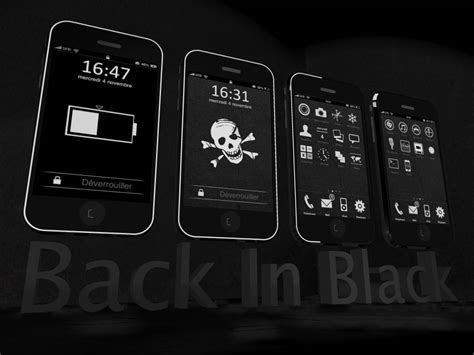 black jailbreak themes backinblack theme for iphone by opla457 on deviantart