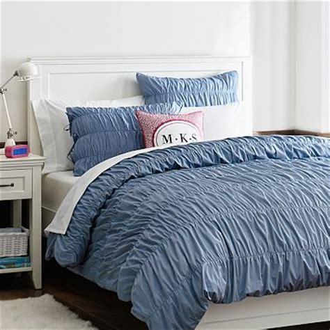 chambray bedding chambray ruched duvet cover sham bedding pinterest