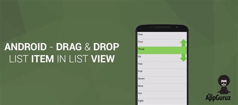 android drop list drag and drop list item in list view