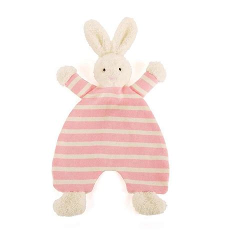 jellycat baby comforter jellycat bts4bn breton bunny soother for baby with organza