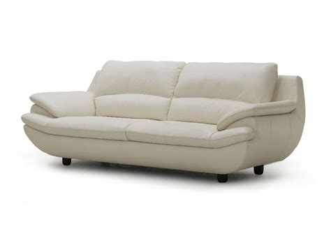 Plush Leather by Plush Leather Sofa In White Not Just Brown