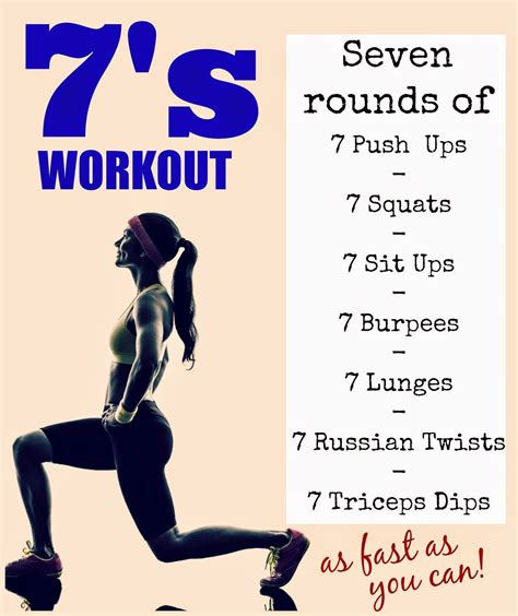 amazing at home strength and cardio burner 7 reps of 7