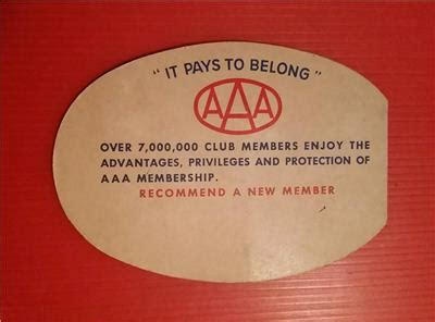 Aaa Gift Card - rare vintage quot 1940 50 s aaa auto club promotional sewing needles gift card quot 代拍