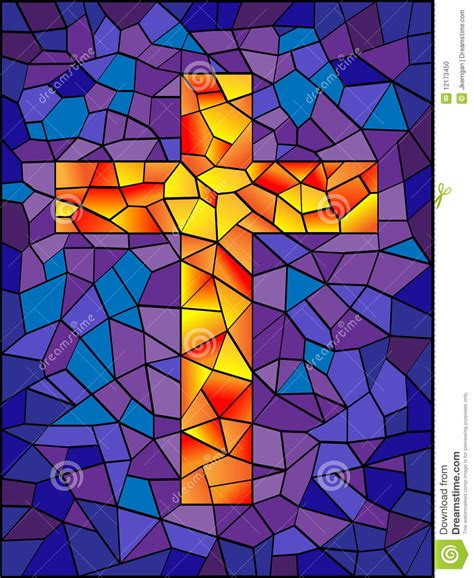 stained glass cross l stained glass cross stock photo image 12173450