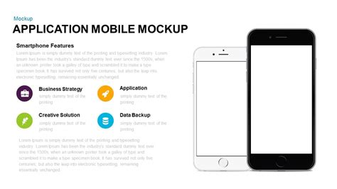 keynote template application mobile mockup powerpoint and keynote template