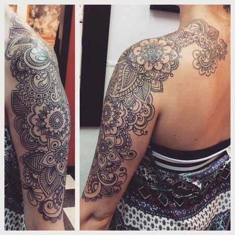 realistic fleur de lis on half sleeve paisley half sleeve bohemian with tattoos