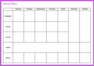 Blank Meal Plan Template by Customized Meal Plan For The Busy Food Savvy With