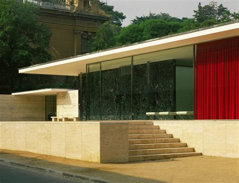 Pavillon Mies Der Rohe by Ludwig Mies Der Rohe German Pavillion For The