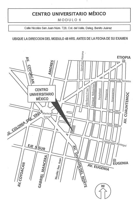Sedes de Aplicación de Examen - UNAM