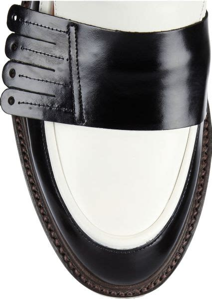 Aldo Two Tone Wallet Black And White robert clergerie rizzi renee two tone leather loafers in