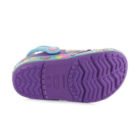 Crocs Butterfly Led crocs crocslights butterfly neon purple aqua