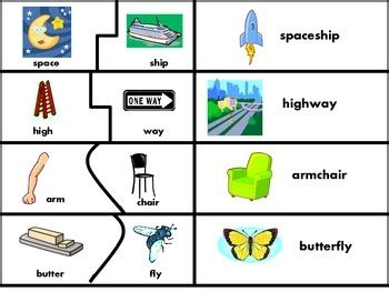 printable compound word matching games 33 best compound words images on pinterest compound