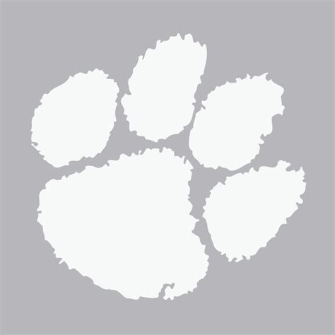 tiger paw template tiger paw outline cliparts co