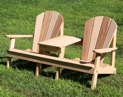 Outdoor Settee Bench Creekvine Designs Cedar Wood 68l X 32w Adirondack Settee