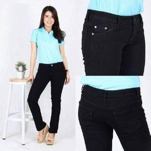 2142 Stelan Blouse Hitam Celana Salur celana panjang ryn fashion