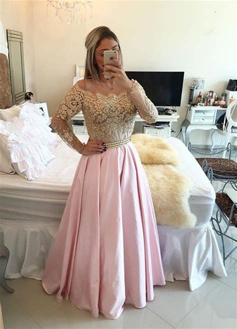 Fr019 New Pattern 2018 Fashion Wedding Lovely Green 2018 gold pink prom dresses sleeves crystals beaded