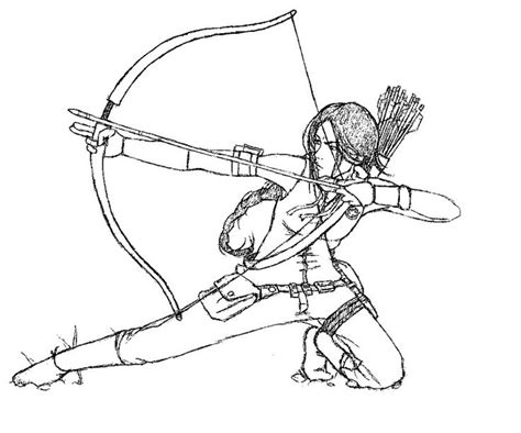 printable hunger games coloring pages katniss the hunger games coloring page art pinterest