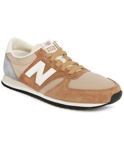 beige sneakers new balance beige 420 suede sneakers in for lyst