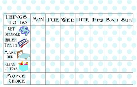 free printable chore charts for kids charts for kids free printable chore chart