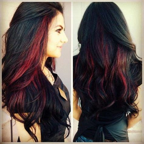 hairstyles with brown hair and red highlights 20 trendy the dark brown hair with red highlights