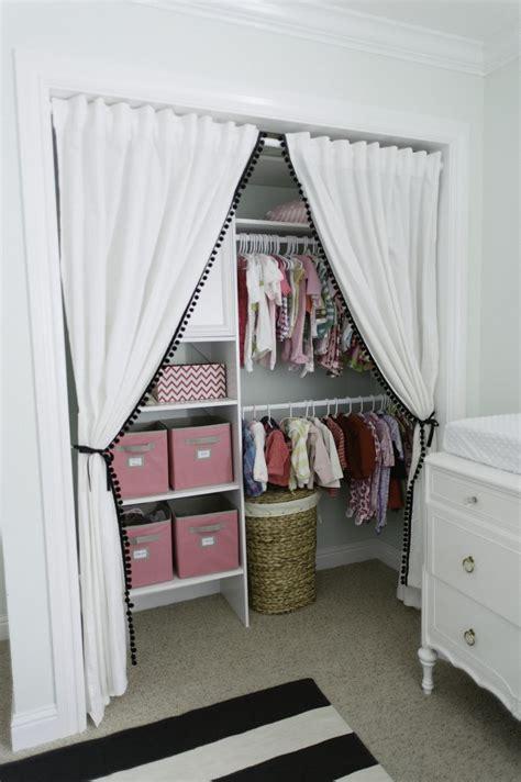 closet curtains organizing the baby s closet easy ideas tips
