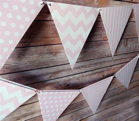 pattern for triangle banner pink mix pattern triangle flag pennant banner 11ft