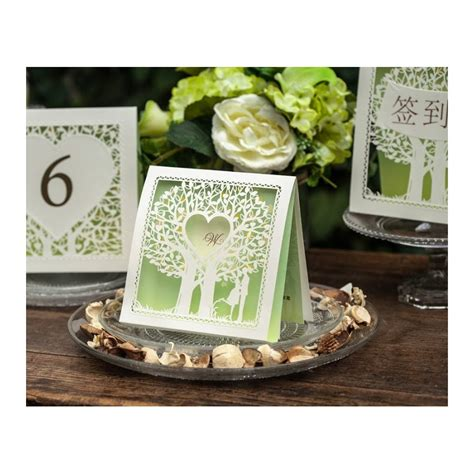 wish upon a tree garden theme wedding invitation card laser cut cards