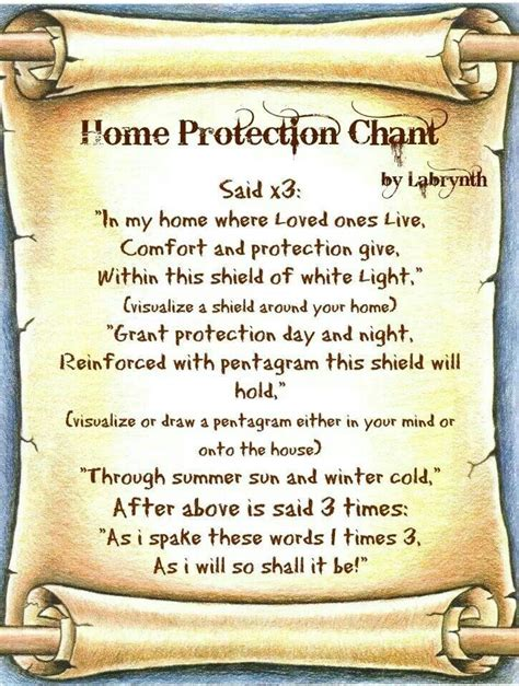 home protection spell bos magic protection