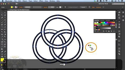 illustrator tutorial live paint n s l week 118 adobe illustrator cc linking rings