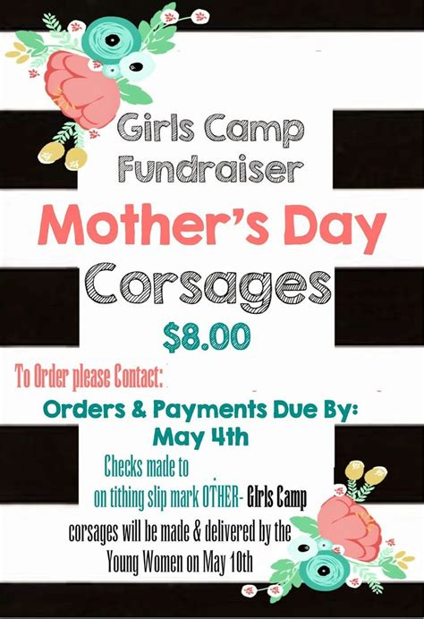 Fundraising Kick Letter This N That A Crafting C Fundraiser S Day Corsages Yw Ideas Just In