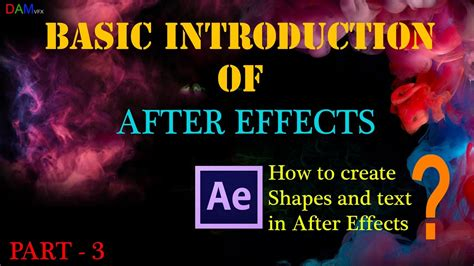 after effect tutorial in hindi after effects tutorial hindi basic introduction part 3