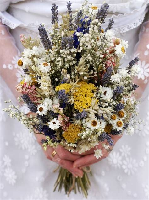 Wedding Bouquet Dried by Festival Meadow Dried Flower Wedding Bouquet Flower