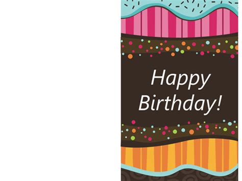 foldable birthday card template birthday card dots and stripes half fold templates office