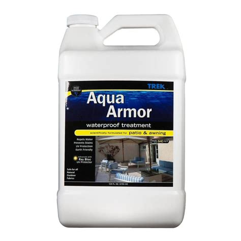 Awning Cleaner Home Depot by Trek7 Aqua Armor 1 Gal Fabric Waterproofing Spray For