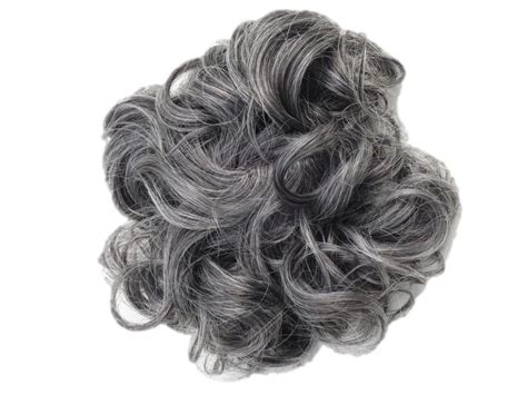 salt pepper curly hair extensions hair extensions curly messy updo full bun in our unique