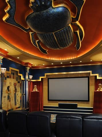 Whitney Design Home Essentials by Egyptian Themed Media Room Recognized With Design