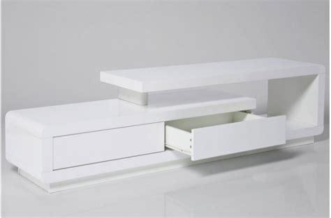 Console Blanc Laqué Avec Tiroir by Meuble Tv Bois Et Blanc Pas Cher